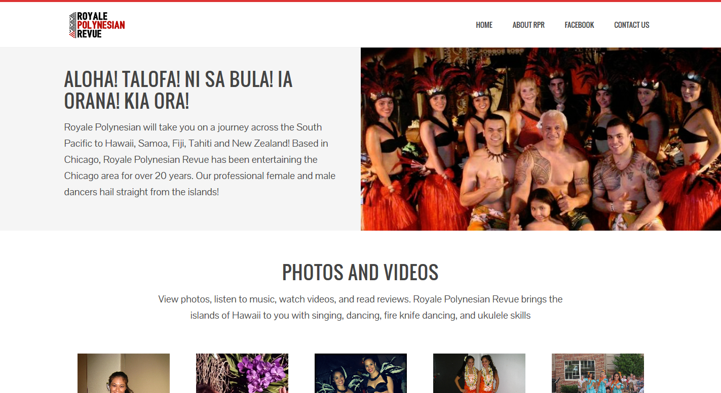 Royale Polynesian Revue Page